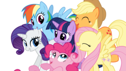 Size: 1920x1080 | Tagged: safe, artist:fehlung, applejack, fluttershy, pinkie pie, rainbow dash, rarity, twilight sparkle, .svg available, cute, mane six, simple background, svg, transparent background, vector