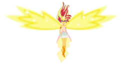 Size: 8000x4200   Tagged: safe, artist:zuko42, sunset shimmer, equestria girls, friendship games, absurd resolution, clothes, daydream shimmer, dress, female, fingerless gloves, gloves, looking at you, simple background, solo, transparent background, vector