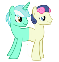 Size: 1949x2053 | Tagged: safe, artist:theunknowenone1, edit, bon bon, lyra heartstrings, sweetie drops, boy bon, boyra, conjoined, fusion, gay, guyra, guyrabon, guyrabon (fusion), lyrabon, lyrabon (fusion), male, rule 63, shipping, together forever, we have become one
