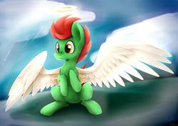 Size: 5000x3565   Tagged: safe, artist:artoftheghostie, oc, oc only, oc:nox, angel, halo, solo, wings