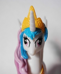 Size: 823x1000 | Tagged: safe, princess celestia, creepy, derp, derplestia, figure, irl, magazine figure, photo, quality, toy