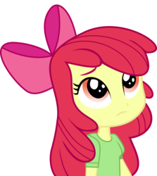 Size: 8307x9328   Tagged: safe, artist:luckreza8, apple bloom, equestria girls, friendship games, .svg available, absurd resolution, apple bloom's bow, bow, canterlot high, chs rally song, clothes, frown, hair bow, inkscape, looking up, school spirit, simple background, solo, transparent background, vector, wondercolts