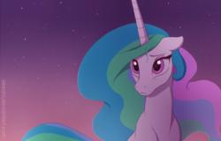 Size: 1000x638   Tagged: safe, artist:akeahi, princess celestia, alicorn, pony, female, floppy ears, mare, sad, solo