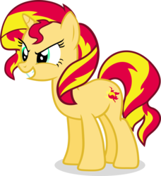 Size: 854x935 | Tagged: safe, sunset shimmer, pony, unicorn, simple background, solo, transparent background
