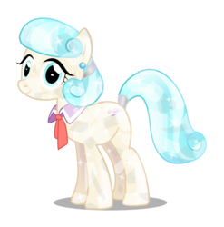 Size: 3371x3417   Tagged: safe, artist:infinitewarlock, coco pommel, crystallized, female, race swap, simple background, solo, transparent background, vector
