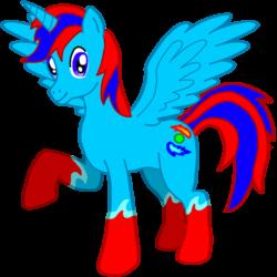 Size: 894x894   Tagged: safe, artist:cryoflaredraco, oc, oc only, oc:cryoflare, alicorn, pony, alicorn oc, donut steel, solo
