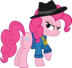 Size: 6000x5648 | Tagged: safe, artist:slb94, pinkie pie, earth pony, pony, absurd resolution, fedora, female, hat, looking at you, missing accessory, plot, rapper pie, solo, swag