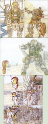 Size: 1280x3258 | Tagged: safe, artist:meiyeezhu, sunset shimmer, robot, equestria girls, friendship games, anime, bandage, battle suit, bonk, bump, chains, comic, controller, crossover, desert, destruction, disappointed, disapproval, engineer, epic fail, error, experiment, fail, failure, fanart, force field, frustrated, funny, giant robot, head injury, hilarious, hooks, huge, humanized, humanized ponified human, injured, ipad, mech, mechanic, ogre titan, old master q, oops, ouch, parody, punch, science, scientist, scrap metal, sledgehammer, sunset the science gal, sunset welder, titanfall, traditional art, welder, welding, whoops, wrench, zoomlift