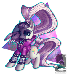 Size: 1000x1105   Tagged: safe, artist:chubby-kirin, coloratura, earth pony, pony, the mane attraction, bracelet, clothes, countess coloratura, cutie mark, female, mare, necklace, ponytail, simple background, solo, transparent background, veil