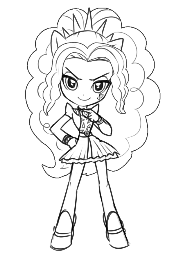 My Little Pony Adagio Dazzle Coloring Pages : Equestria girls rainbow rocks adagio dazzle coloring page