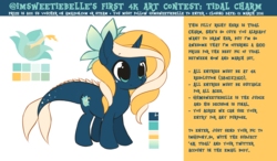 Size: 6000x3500 | Tagged: aquapony, competition, contest, female, filly, foal, oc, oc only, oc:tidal charm, safe, seaunicorn, solo, win $100