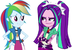 Size: 864x598 | Tagged: safe, artist:trixiesparkle63, aria blaze, rainbow dash, equestria girls, rainbow rocks, ariadash, female, lesbian, shipping