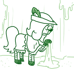 Size: 640x600   Tagged: safe, artist:ficficponyfic, oc, oc only, oc:emerald jewel, goo, colt quest, boots, cave, cavern, child, clothes, colt, cyoa, dirt, femboy, foal, hat, male, ooze, rock, slime, sticky, stone, story included, trap, uneasy