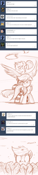 Size: 1200x5498 | Tagged: safe, artist:ncmares, applejack, twilight sparkle, alicorn, pony, ask, big-apple-pony, clothes, female, floppy ears, frown, giantess, macro, mare, pillow, pillow fight, serious face, sketch, socks, spread wings, striped socks, tree, tumblr, twilight sparkle (alicorn), wide eyes