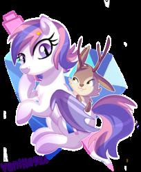 Size: 1024x1257 | Tagged: safe, artist:spookyle, oc, oc only, oc:arthur, oc:diamond pen, bat pony, jackalope, pony
