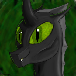 Size: 2080x2080 | Tagged: safe, artist:icarys, oc, oc only, oc:icarys, changeling, drawn on phone, green changeling, male, solo