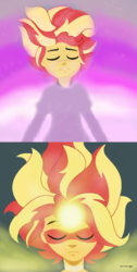 Size: 634x1254 | Tagged: artist:a-r-i-a-1997, clothes, daydream glare, daydream shimmer, equestria girls, equestria guys, faic, friendship games, magic, male, meme, rule 63, safe, sunset glare, sunset shimmer, transformation, yaranaika