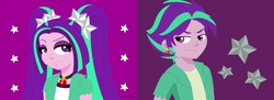 Size: 1664x607 | Tagged: safe, artist:a-r-i-a-1997, edit, aria blaze, equestria girls, rainbow rocks, collage, duality, equestria guys, looking at each other, male, ouvertis grandioso, rule 63, self paradox, self ponidox, solo, unamused