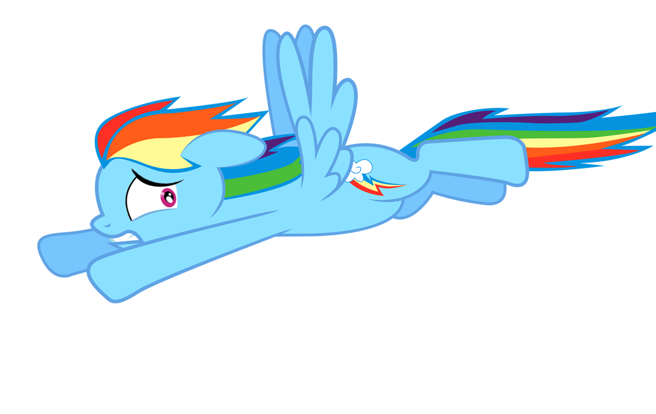 how to draw my little pony flying