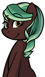 Size: 980x1648 | Tagged: safe, artist:furrgroup, oc, oc only, oc:peridot pendant, crystal pony, pony, bedroom eyes, eyeshadow, looking at you, makeup, solo