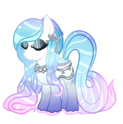 Size: 1770x1783 | Tagged: safe, artist:megal0vania, oc, oc only, oc:silver bells, original species, pond pony, adoptable, eyes closed, solo