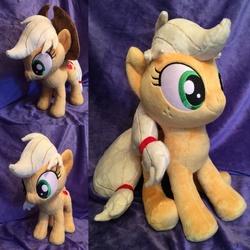 Size: 2048x2048 | Tagged: artist needed, safe, applejack, pony, apple family, irl, photo, plushie, ponies