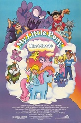 Size: 500x757 | Tagged: bushwoolie, danny williams, draggle, g1, human, hydia, lofty, megan williams, molly williams, mr moochick, my little pony logo, my little pony: the movie (g1), north star, poster, reeka, safe, smooze, spike, wind whistler