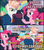 Size: 647x732 | Tagged: safe, edit, screencap, fernando the straw, pinkie pie, svengallop, the mane attraction, drinking straw, image macro, innuendo, meme, pink text, pun, spanish, translated in the comments
