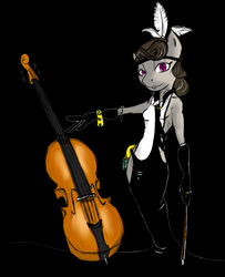 Size: 607x747 | Tagged: alternate hairstyle, anthro, artist:magello, cello, clothes, color, dress, feather, musical instrument, octavia melody, safe, solo