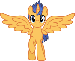 Size: 5169x4215 | Tagged: absurd res, alicorn, alicornified, alternate gender counterpart, artist:osipush, flash sentry, looking at you, pony, prince flash sentry, race swap, raised hoof, safe, simple background, smiling, solo, spread wings, stallicorn, transparent background, vector, xk-class end-of-the-world scenario