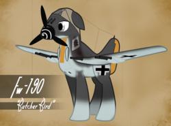 Size: 2025x1500 | Tagged: safe, artist:steamraid, original species, plane pony, pony, aircraft, fw-190, german, plane, world war ii