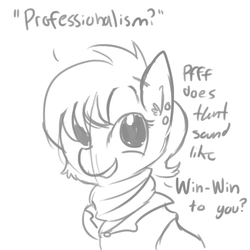 Size: 792x792 | Tagged: safe, artist:tjpones, ms. harshwhinny, pony, black and white, cute, grayscale, monochrome, ms. cutewhinny, professionalism, solo