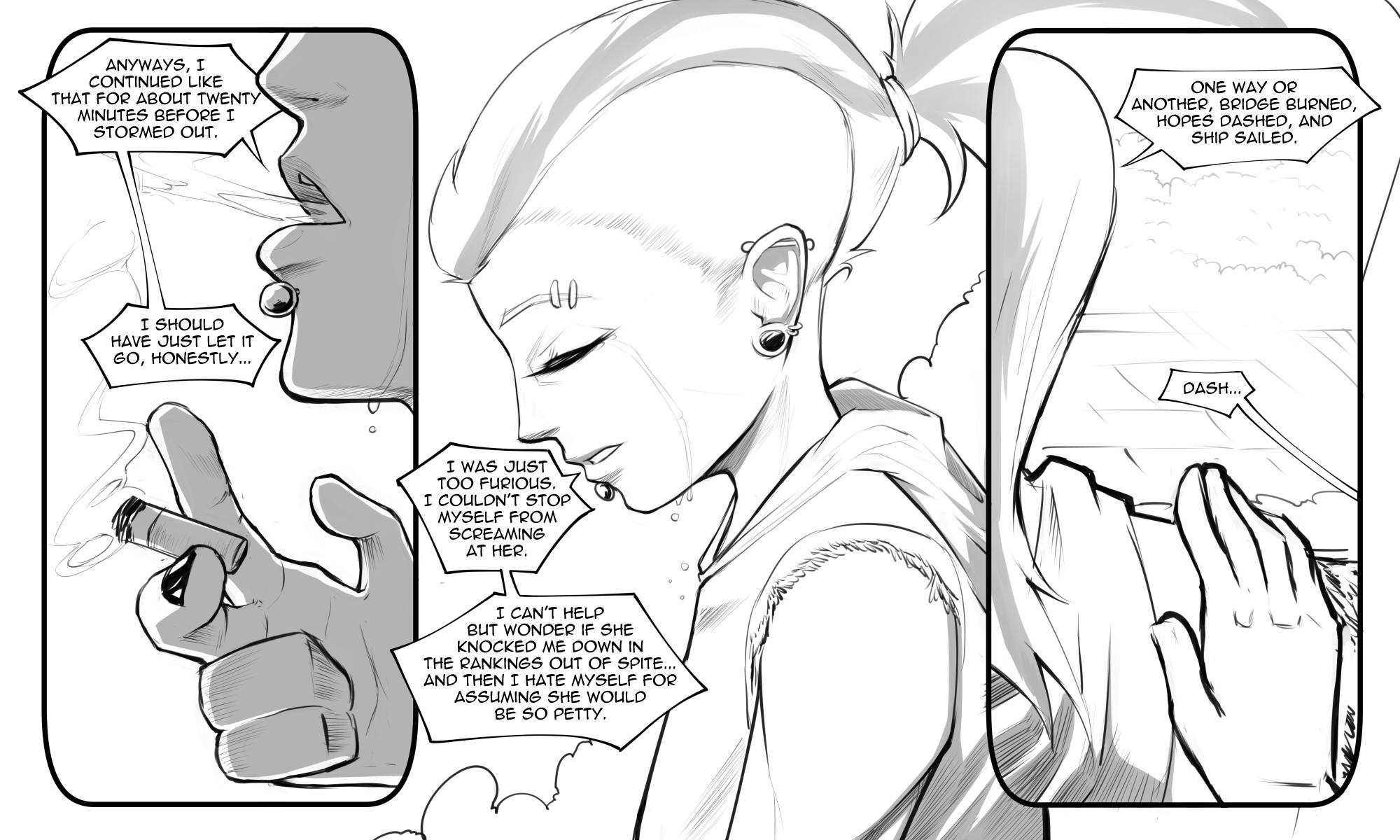 Bakuhaku 1061140 - artist:bakuhaku, cigarette, comic, comic:drop out