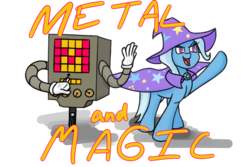 Size: 1280x853 | Tagged: safe, artist:mistral-art, trixie, pony, unicorn, crossover, female, mare, mettaton, undertale