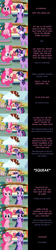 Size: 3296x14588 | Tagged: safe, artist:mlp-silver-quill, pinkie pie, twilight sparkle, alicorn, pony, comic:pinkie pie says goodnight, autumn, broom, cloud, comic, ponyville, squeak, sweeping, sweepsweepsweep, twilight sparkle (alicorn), twilight sweeple, united kingdom