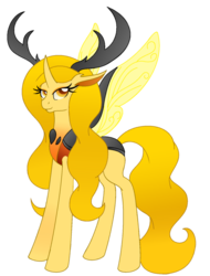 Size: 600x788   Tagged: safe, artist:skyraheartsong, oc, oc only, changedling, changeling, changeling queen, to where and back again, changeling oc, changeling queen oc, female, simple background, solo, transparent background