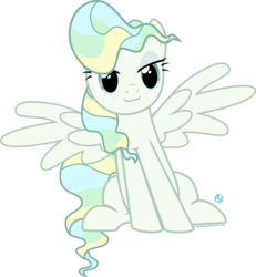 Size: 1800x1952   Tagged: safe, artist:arifproject, vapor trail, pony, top bolt, :3, cute, lidded eyes, simple background, sitting catface meme, solo, transparent background, vaporbetes, vector