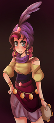 Size: 703x1599 | Tagged: safe, artist:starshame, pinkie pie, human, female, gypsy pie, humanized, solo