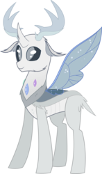 Size: 4000x6786 | Tagged: safe, alternate version, artist:anonshy, thorax, changedling, changeling, to where and back again, absurd resolution, alternate color palette, changeling king, king thorax, missing wing, redesign, simple background, solo, transparent background, vector