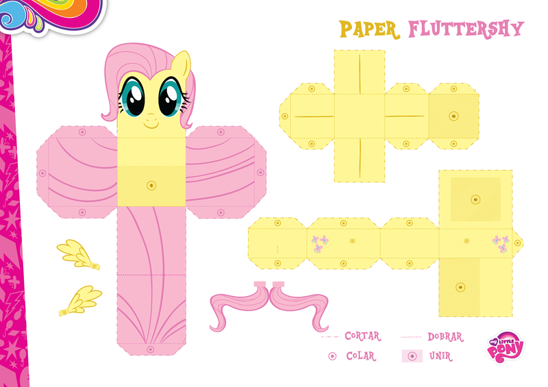 Hurriacane Fluttershy Papercraft Instructions Www Picswe Com
