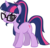 Size: 1438x1391 | Tagged: safe, artist:rustle-rose, sci-twi, twilight sparkle, pony, unicorn, equestria girls, legend of everfree, equestria girls ponified, female, glasses, hilarious in hindsight, looking at you, mare, ponified, ponified humanized pony, simple background, smiling, solo, transparent background, unicorn sci-twi, vector