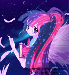 Size: 600x650   Tagged: safe, artist:flurrypastels-mlp, sci-twi, twilight sparkle, equestria girls, legend of everfree, solo, watermark, winged humanization