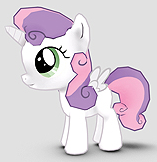 Size: 157x162 | Tagged: safe, sweetie belle, alicorn, pony, alicornified, gameloft, race swap, solo, sweetiecorn