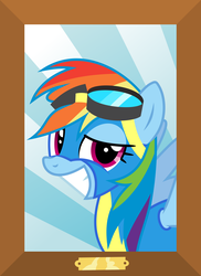 Size: 2182x3000 | Tagged: safe, artist:valadrem, rainbow dash, pegasus, pony, top bolt, clothes, faic, female, grin, looking at you, mare, picture, rainbow dash is best facemaker, smiling, smug, smugdash, solo, vector, wonderbolts uniform