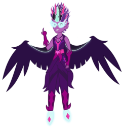Size: 1871x1925 | Tagged: artist:drewmwhit, clothes, dark shine, dead source, dusk shine, equestria girls, equestria guys, fingerless gloves, flash puppet, floating, gloves, male, midnight sparkle, rule 63, safe, sci-dusk, sci-twi, solo, twilight sparkle