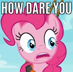 Size: 502x498 | Tagged: safe, edit, edited screencap, screencap, pinkie pie, ppov, caption, female, image macro, lifejacket, meme, reaction image, solo, text