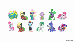 Size: 1600x908 | Tagged: safe, applejack, fili-second, fluttershy, humdrum, mane-iac, masked matter-horn, mistress marevelous, neon brush, pinkie pie, radiance, rainbow dash, rarity, saddle rager, spike, twilight sparkle, zapp, alicorn, dragon, earth pony, pegasus, pony, unicorn, power ponies (episode), chibi, comic, female, figure, flutterhulk, funko, hot topic, male, mane seven, mane six, mare, official, power ponies, stallion, toy, twilight sparkle (alicorn)
