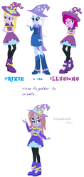 Size: 708x1498 | Tagged: safe, artist:midnightdaydreamstar, fuchsia blush, lavender lace, trixie, equestria girls, female, fusion, multiple arms, multiple eyes, trixie and the illusions