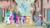 Size: 1920x1080   Tagged: safe, screencap, applejack, discord, fluttershy, pinkie pie, princess cadance, princess celestia, princess flurry heart, princess luna, rainbow dash, rarity, shining armor, spike, trixie, twilight sparkle, alicorn, draconequus, dragon, earth pony, pegasus, pony, unicorn, season 6, to where and back again, alicorn pentarchy, mane seven, mane six, our town, royal family, royalty, smiling, twilight sparkle (alicorn)