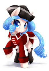 Size: 3900x5700 | Tagged: absurd res, artist:starshinebeast, british, civilization, clothes, female, hat, line infantry, mare, oc, oc only, oc:opuscule antiquity, pony, red coat, redcoats, safe, simple background, solo, transparent background, unicorn, uniform